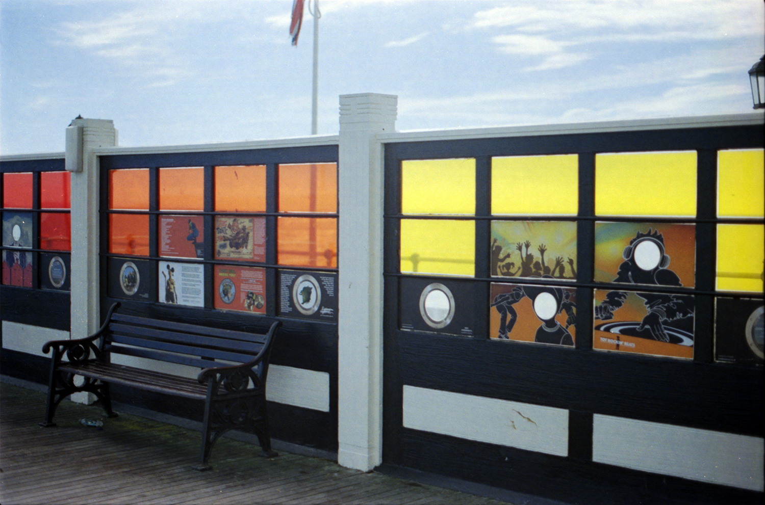 Stained Glass Panels no the Pier