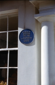 Harold Pinter's Blue Plaque