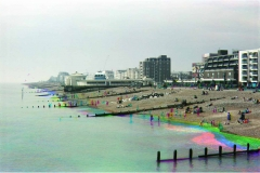 A trichromic image of Worthing Beach